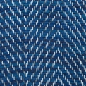 Vertical Herringbone, small turn (5 sm), blue mix 531, 516, 509, 520; yarn - white