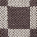 Double Weave Chequered, 1sq - dark grey 165_ 2sq - light grey 168 on the natural yarn