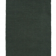 Vertical Herringbone, dark green 0442 on the black yarn rug