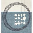 Wool felt and wool yarn STORIA Rug created by Ami Katz on natural yarn