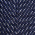 Vertical Herringbone, blue H494; yarn - natural