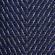 Vertical Herringbone, blue H494; yarn - natural
